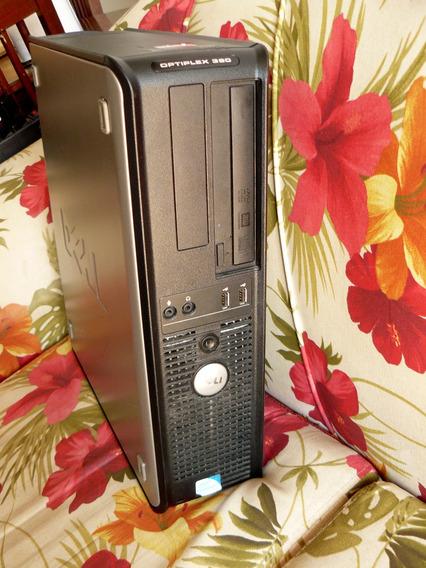 Desktop Dell Optiplex 360 E5300 Core2 4gb Monitor15 Hd160gb