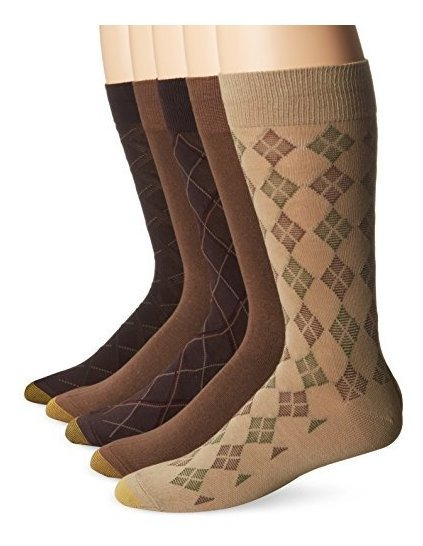 Gold Toe Mens 5 Pack Diagonal Plaid Fashion