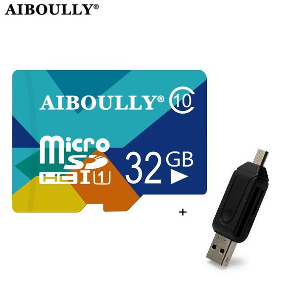 Cartão De Memória Micro Sd 32g Aiboully + Leitor De Cartão