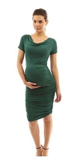 Vestidos De Maternidad Fiesta Baby Shower Embaraza Verde