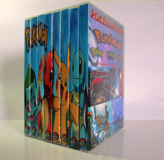 Box Pokémon Todas As Temporadas Completo + Sol&lua (36 Dvds)