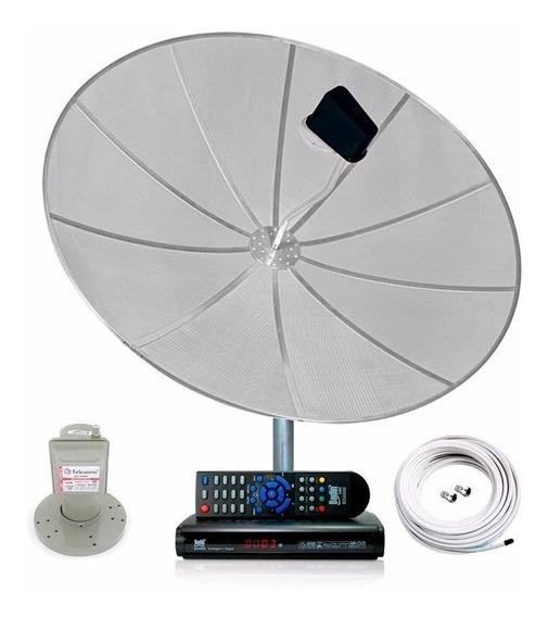 Antena Parabólica 170cm Completa Receptor Analógico Digital