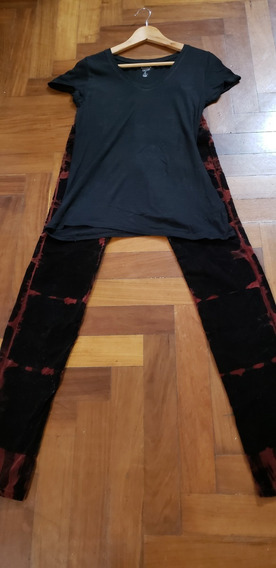Pantalón De Pana Rojo Y Negro Ona Saez Impecable