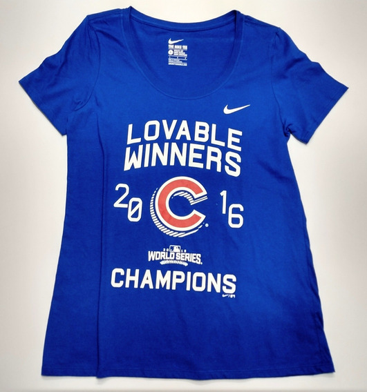 Remera Nike Chicago Cubs Talle L Woman Mlb Baseball
