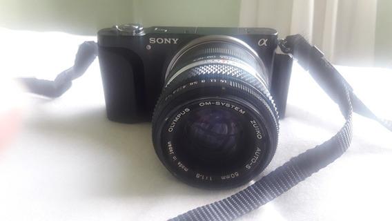 Câmera Nex 3n + Lentes Manuais + Adaptador Om-nex