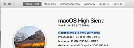 Macbook Pro 13 - 2011 - I5 - 16gb De Ram