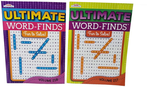 2 Pack Word Search Book Puzzle | Rompecabezas Jumbo 96 Pá...