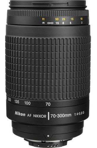 Lente Nikon Af Nikkor 70-300mm 4-5.6g 1 Ano Garantia
