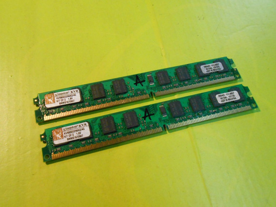Memoria Kingston 800 Ddr2 4g (2x2) Kvr800d2n6k2/4g