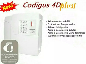 Central 4 D Plus Ppa Codigus + 4 Sensores Ext 12 M + Sirene