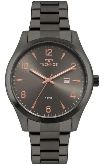 Relógio Masculino 45mm Technos 2115mry Aço Grafite - Barato