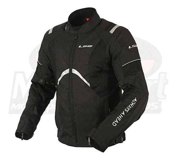 Jaqueta Proteção Motociclista Moto Ls2 Teide Preta Com Nota