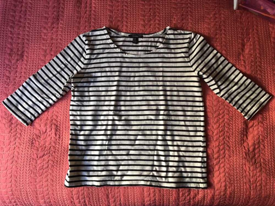 Suéter Rayas Blancas Y Negro Forever 21 Talla M