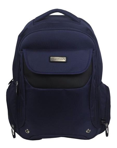 Bolsa Grande Feminina Mochila Azul Notebook 15.6 Lançamento