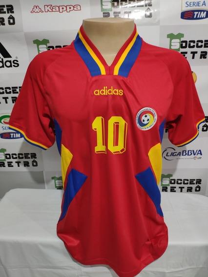 Camisa Romenia Away Copa Do Mundo 1994 Hagi 10 À Pronta Entrega