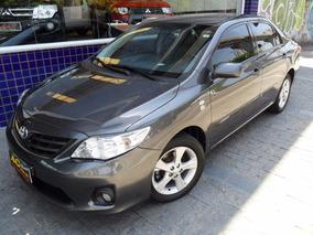 Toyota Corolla Gli 2013 Cinza 1.8 Flex Autom Couro 68000km