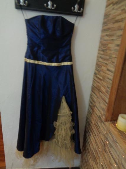 Hermoso Vestido De Fiesta Strapless Y Tul Impecable!!