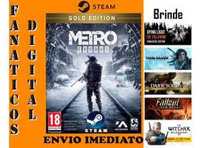 Metro Exodus Gold Edition Pc Original Steam + Brinde