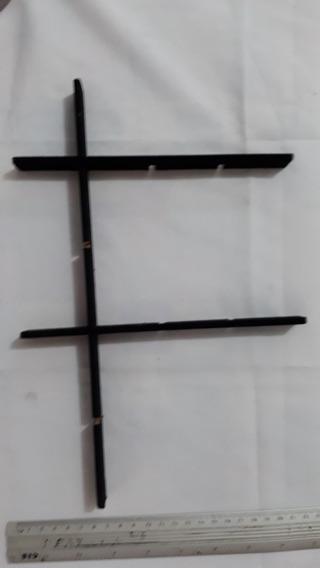 3 Divisória De Madeira Para Mostruário De Jóias Preto C2780