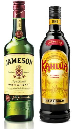 Kit Licor Creme De Café Kahlúa 750ml + Whiskey Jameson 750ml