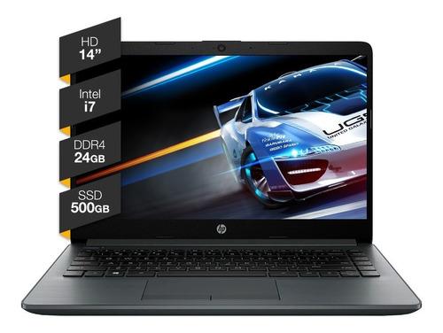 Notebook Hp Intel I7 24gb Ram Solido 500gb Ssd 14hd Win10