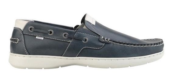 Zapato De Cuero Ringo Cameron 03 Azul / Blanco