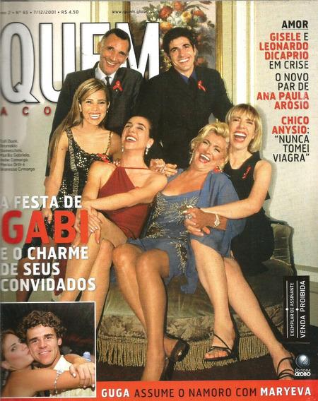 Revista Quem 65/2001 - Xuxa - Angélica - Ana Paula Arósio