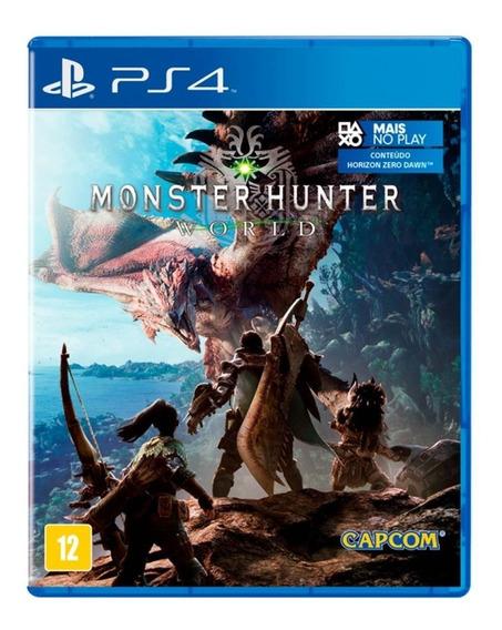 Jogo Monster Hunter World Mídia Física - Ps4