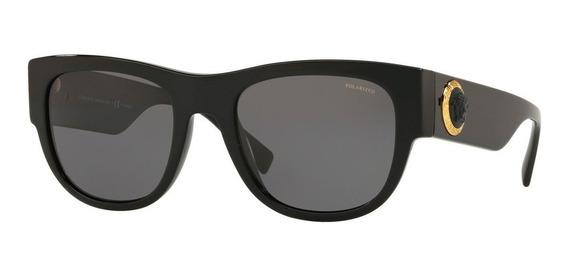 Lentes Versace Negros De Caballero Ve4359 Gb1/81 Polarizado