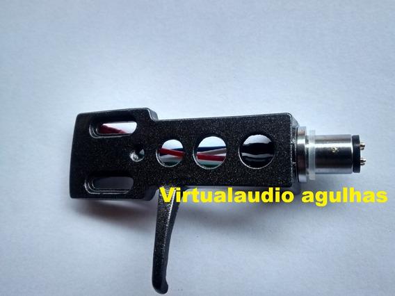 Headshell Universal Cinza Escuro Gradiente Technics Sony Etc