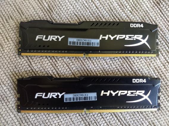 Memória Ram Ddr4 Hyperx Fury 8gb (2x4gb) 2400mhz