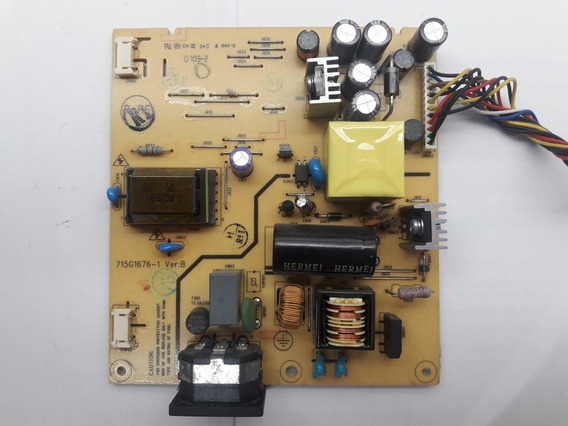 Placa Da Fonte Monitor Philips 150s7 715g1676-1