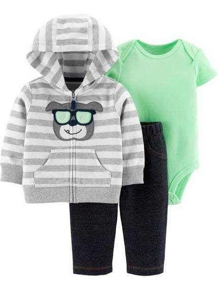Conjunto Body,calça E Jaqueta Carters,roupa Inverno Menino