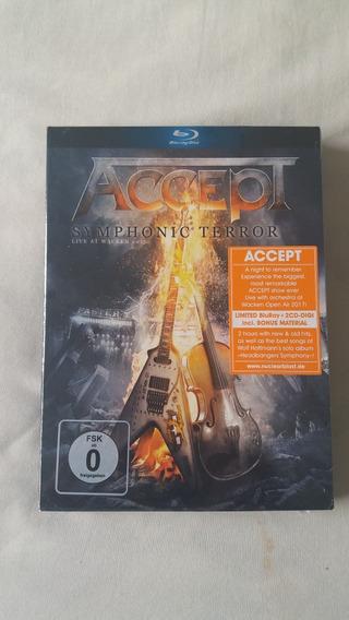Blu-ray + 2cds Accept - Symphonic Terror (imp. Lacrado!!!)