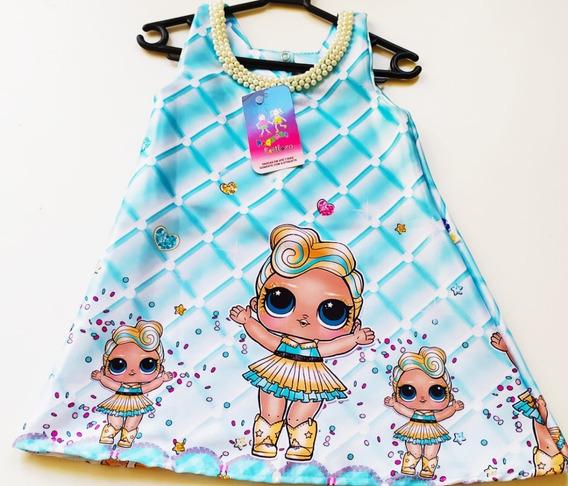 Promoção Vestido Trapézio Lol Luxo Em Cetim