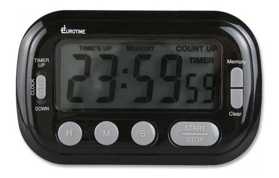 Reloj Timer Digital Eurotime Con Alarma Ideal Gastronomía