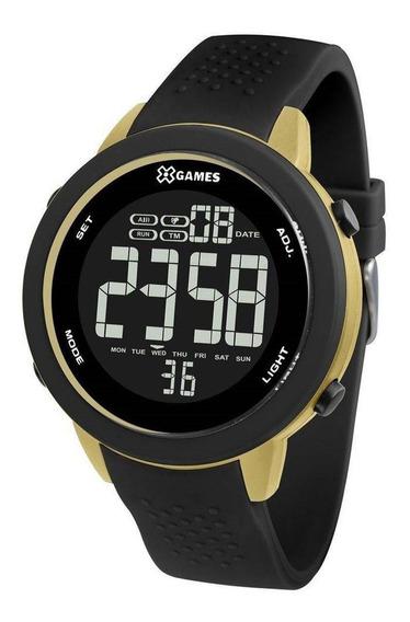 Relógio Masculino Preto E Dourado X Games Digital Original