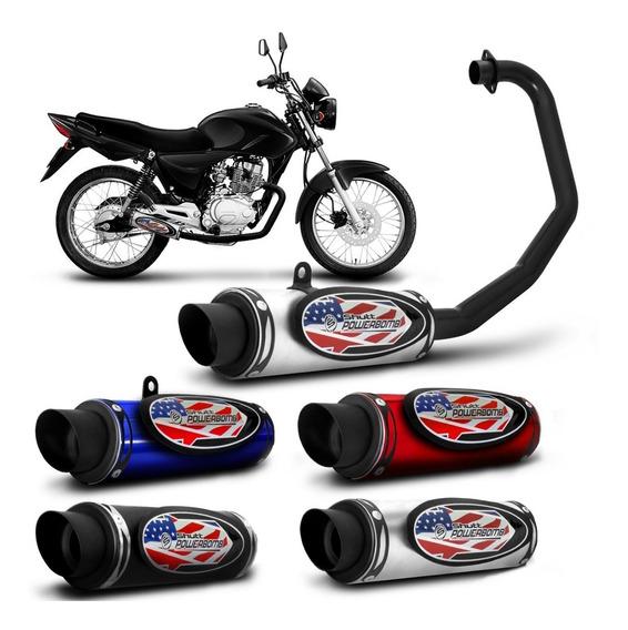 Escapamento Moto Esportivo Cg Titan 150 Ks Es 09 A 12 Shutt