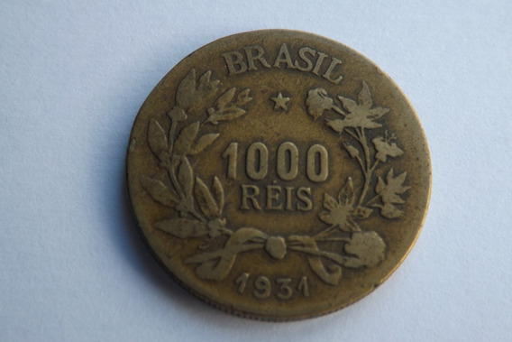 1000 Reis 1931 Bronze Aluminio Rara