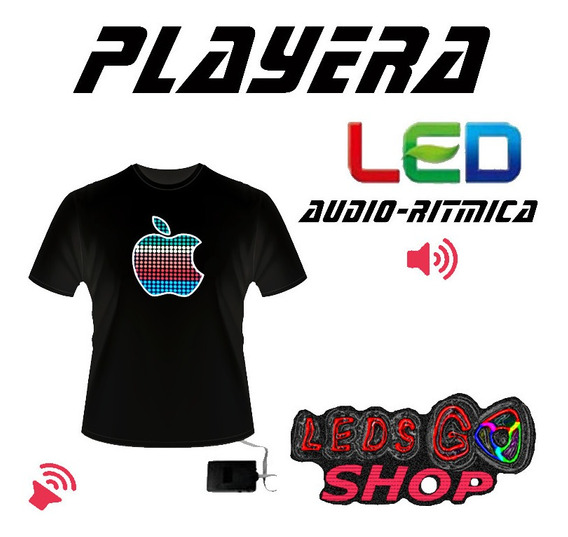 3 Playeras Led Dj Electronica Audioritmico Marvel Dc Comics