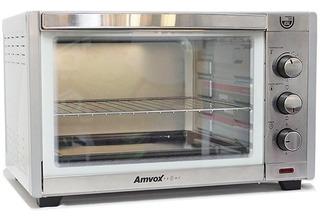 Forno Elétrico Inox 45 Litros 110v Multifunção Alarme Timer