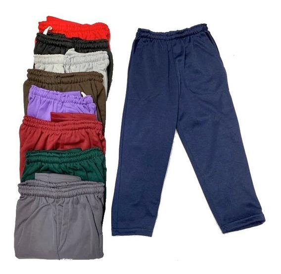 Pantalón Jogging Colegial 4 A 16 Doble Friza Acetato Colores