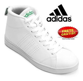 Tênis adidas Advantage Clean Mid Original Cano Médio Branco