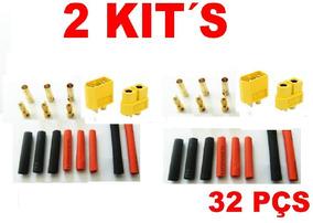 2 Kit´s De Conectores Motor+ Esc+ Bat+ Retrát Xt60
