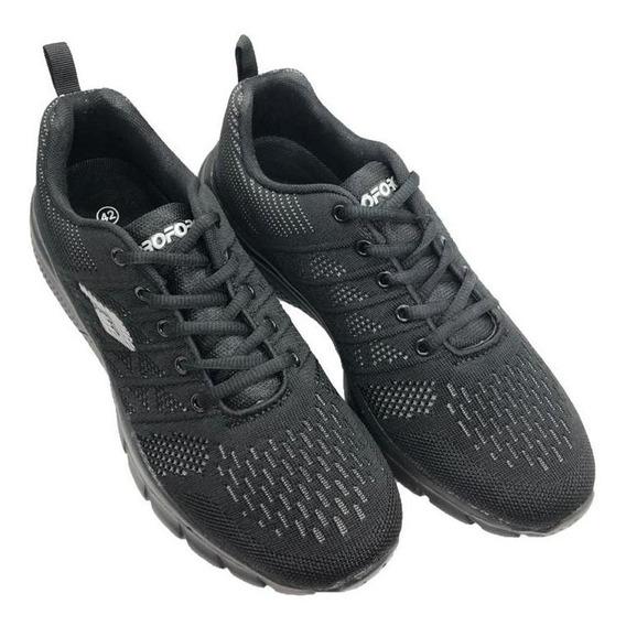 Zapatillas Deportivas Running Hombre Negro Negro Cod. 3009