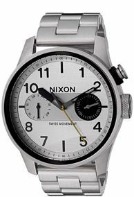Relógio Nixon Safari Deluxe Silver A 976 130-00