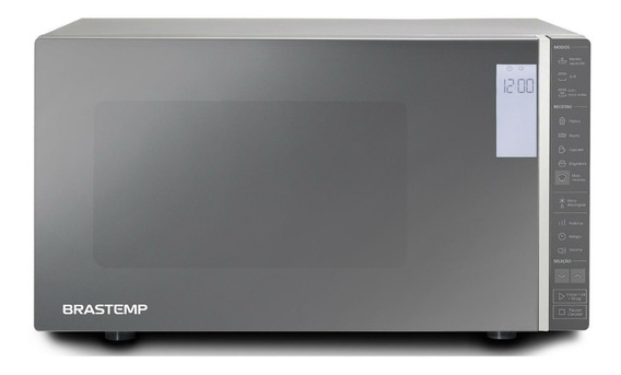 Micro-ondas Brastemp Espelhado Grill 32 Litros Bmg45ar