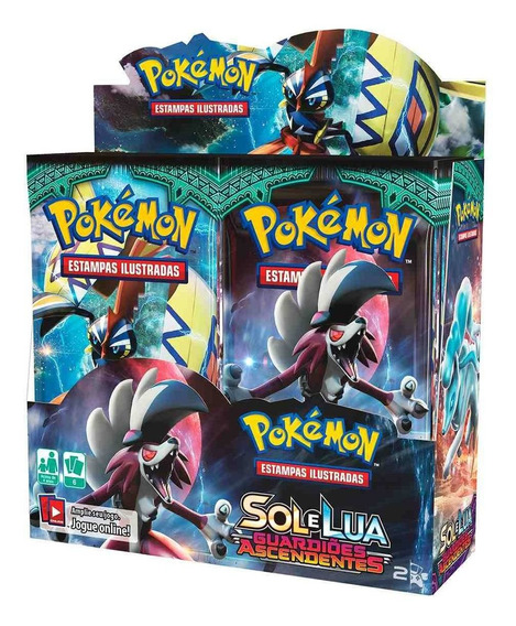 Box Boosters Pokemon Sol E Lua 2 Guardiões Ascendentes