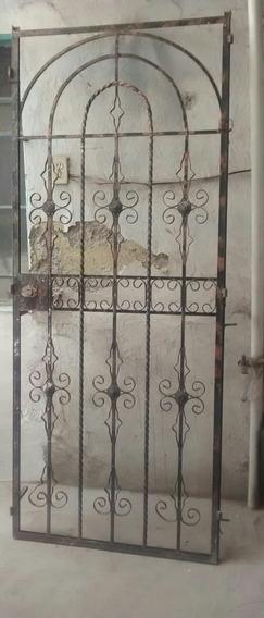 Puerta Herreria Con Marco Entrego Domicilio Df