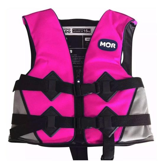 Colete Boia Flutuador Salva Vidas Reforçado Infantil Rosa